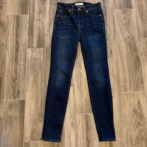 """Madewell 9"""" Mid Rise Skinny Jeans TENCEL Size 25"""